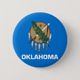 Flag of Oklahoma 2 Inch Round Button