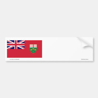 Flag of Ontario, Canada Bumper Sticker