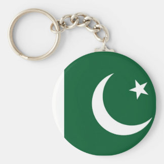 Flag of Pakistan Basic Round Button Keychain