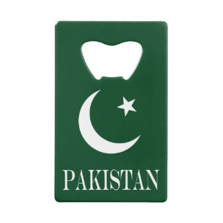 Flag of Pakistan Credit Card Bottle Opener