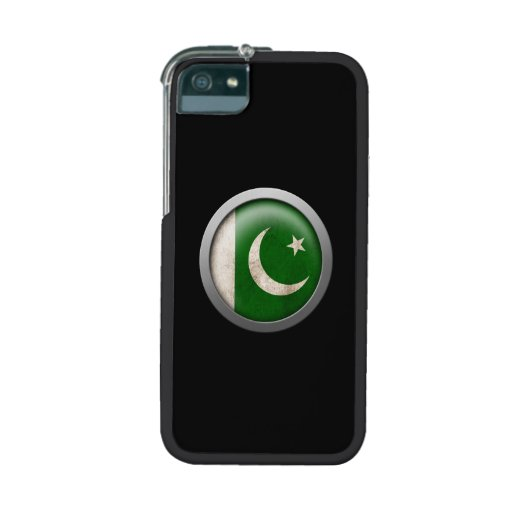 Flag of Pakistan Disc iPhone 5 Cases