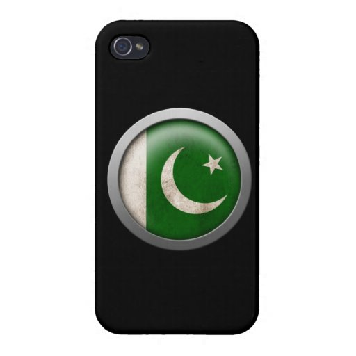 Flag of Pakistan Disc Case For iPhone 4