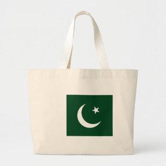 Flag_of_Pakistan Large Tote Bag