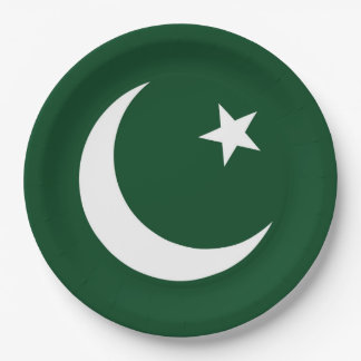 Flag of Pakistan Paper Plate