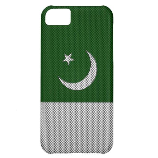 Flag of Pakistan with Carbon Fiber Effect iPhone 5C Case