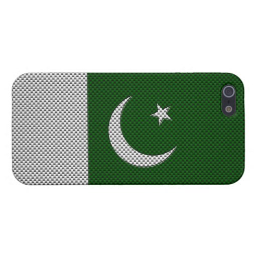 Flag of Pakistan with Carbon Fiber Effect Case For iPhone 5