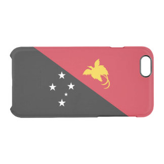 Flag of Papua New Guinea Clear iPhone Case