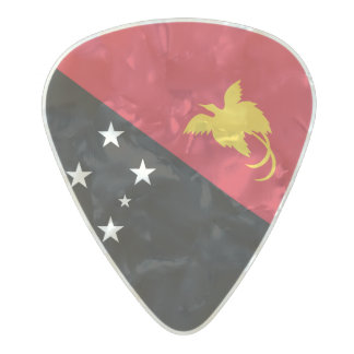 Flag of Papua New Guinea Guitar Picks Pearl Celluloid Guitar Pick