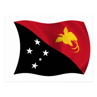 Flag of Papua New Guinea Postcard