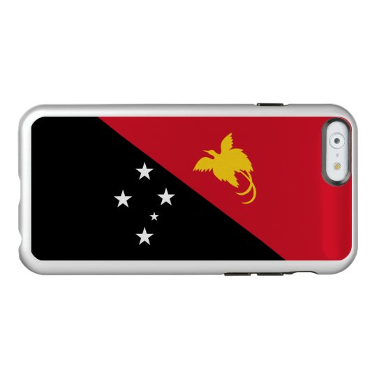 Flag of Papua New Guinea Silver iPhone Case