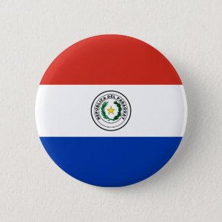 Flag of Paraguay - Bandera de Paraguay 2 Inch Round Button