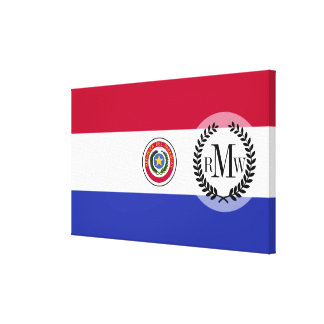 Flag of Paraguay Canvas Print