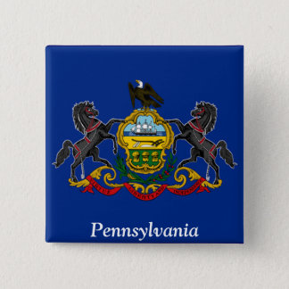 Flag of Pennsylvania 2 Inch Square Button