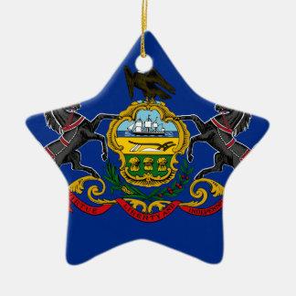 Flag OF Pennsylvania Ceramic Ornament
