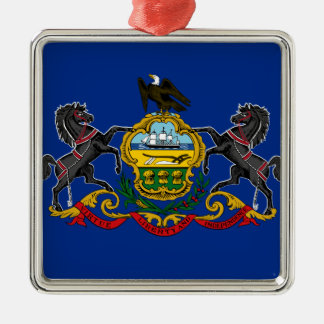 Flag OF Pennsylvania Metal Ornament