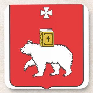 Flag Of Perm Krai Beverage Coaster