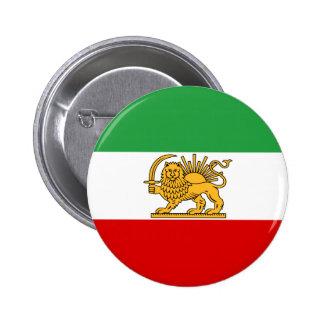 Flag of Persia / Iran (1964-1980) 2 Inch Round Button