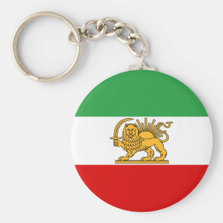 Flag of Persia / Iran (1964-1980) Basic Round Button Keychain