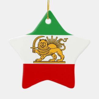Flag of Persia / Iran (1964-1980) Ceramic Star Ornament