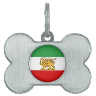 Flag of Persia / Iran (1964-1980) Pet Name Tag