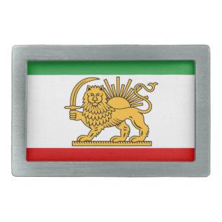 Flag of Persia / Iran (1964-1980) Rectangular Belt Buckle