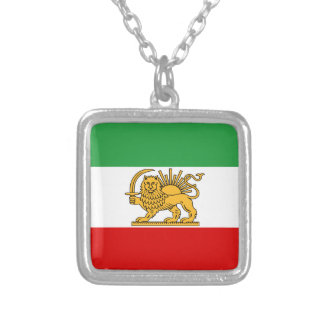 Flag of Persia / Iran (1964-1980) Silver Plated Necklace