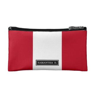 Flag of Peru Cosmetic Bags