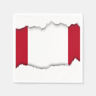 Flag of Peru Disposable Napkins