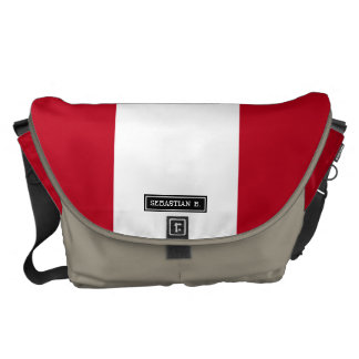 Flag of Peru Messenger Bags