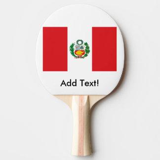 Flag of Peru Ping-Pong Paddle