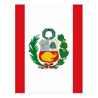 Flag of Peru Postcard