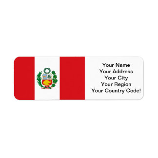 Flag of Peru Return Address Label