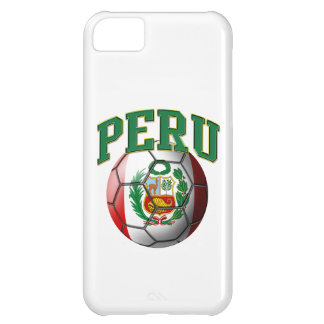 Flag of Peru Soccer Ball iPhone 5C Cases