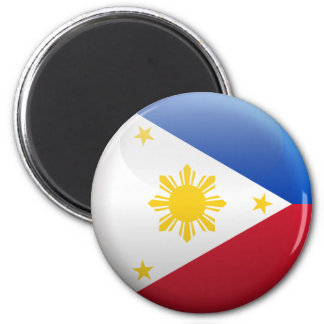 Flag of Philippines 2 Inch Round Magnet