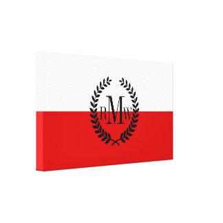 Flag of Poland Canvas Print
