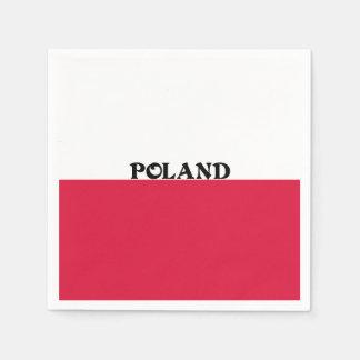 Flag of Poland Disposable Napkins