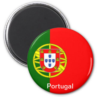 Flag of Portugal 2 Inch Round Magnet