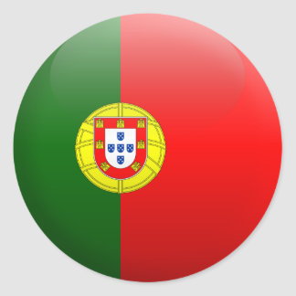Flag of Portugal Classic Round Sticker