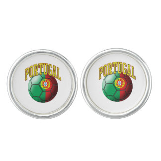 Flag of Portugal Soccer Ball Cuff Links