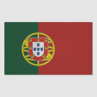 Flag of Portugal with Carbon Fiber Effect Sticker