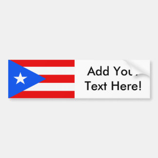 Flag of Puerto Rico Car Bumper Sticker