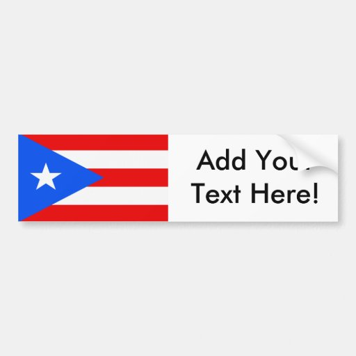 Flag of Puerto Rico Bumper Stickers