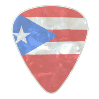 Flag of Puerto Rico Guitar Picks