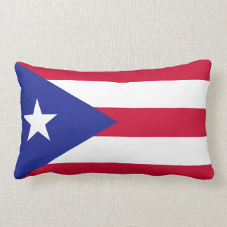 Flag of Puerto Rico Lumbar Pillow