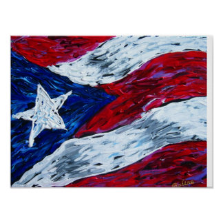 Flag of Puerto Rico Poster