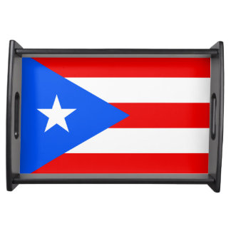 Flag of Puerto Rico Serving Tray