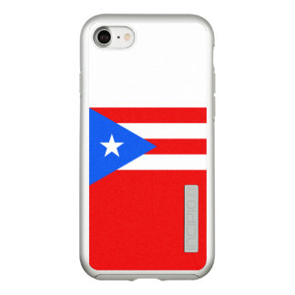 Flag of Puerto Rico Silver iPhone Case