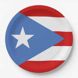 Flag of Puerto Rico Theme 9 Inch Paper Plate
