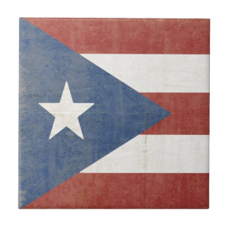 Flag of Puerto Rico Tile