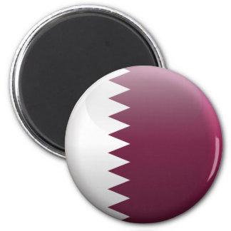 Flag of Qatar 2 Inch Round Magnet